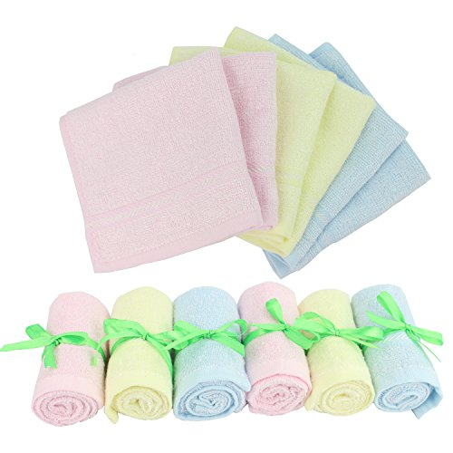 Baby Washcloths Wipes Ultra Soft - 100% Natural Organic Bamboo Face Towel - Premium Extra Soft & Absorbent Baby Wash Cloth - Perfect 10