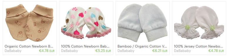 100% Cotton Newborn Baby Anti Scratch Mittens Gloves