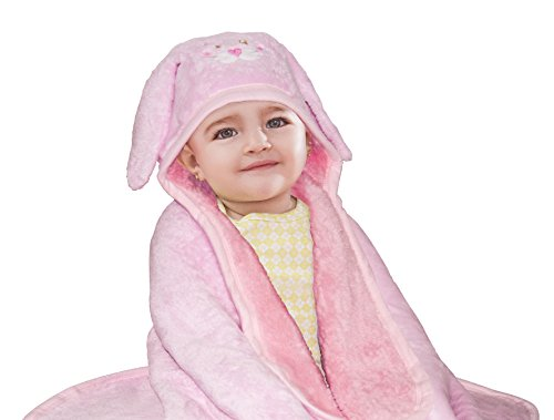 Baby Mink Premium Soft Sherpa Character Hooded Towel Blanket 39