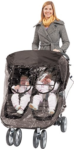 Comfy Baby! Rain-cover Special Designed for the City Mini Double Stroller, Comes with Clear See-Thru Windows with Extra Sun Shade, Plus Protection Net When Window is Open.