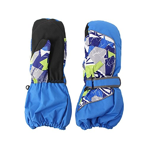 Kocome Children Winter Warm Ski Gloves Boys Girls Outdoor Sports Waterproof (XXS, Blue)