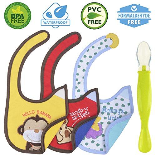 Cute Baby Waterproof Drool Bibs Pack - Best for Dribble while Feeding n Spit ups
