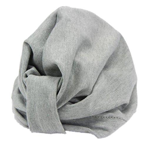 Winhurn Lovely Soft Simple Design Cap Hat for Newborn Baby Girl Headdress (1-6 Years, Gray)