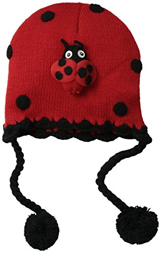 Kidorable Little Girls'  Ladybug Hat, Red, One Size