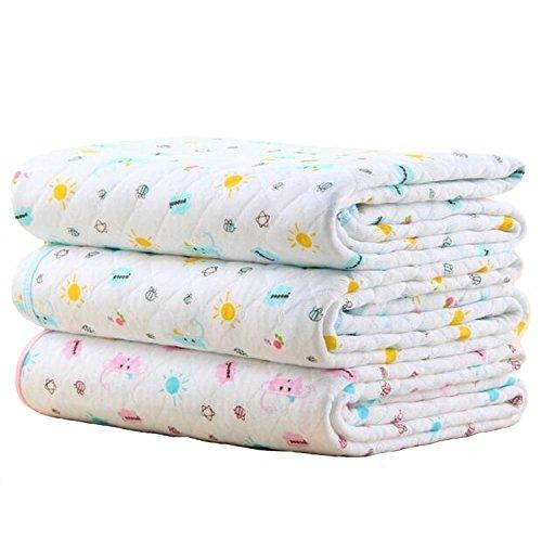 Baby Kid Mattress Waterproof Bedding Diapering Sheet Protector Menstrual Pads Pack of 3 (M (27.5x19.7inch))