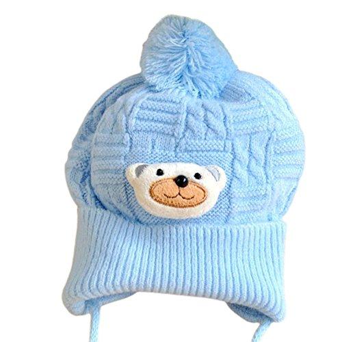 MIOIM Newborn Baby Girls Boys Cute Knitted Bobble Hat Warm Soft Pom-Pom Cap Bonnet