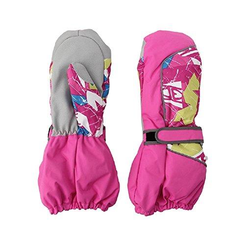 Kocome Children Winter Warm Ski Gloves Boys Girls Outdoor Sports Waterproof (XS, Hot Pink)