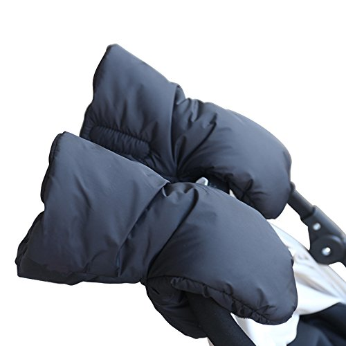 Stroller Hand Muff,Alotpower Extra Thick Stroller Gloves Winter Waterproof Anti-freeze Gloves Black