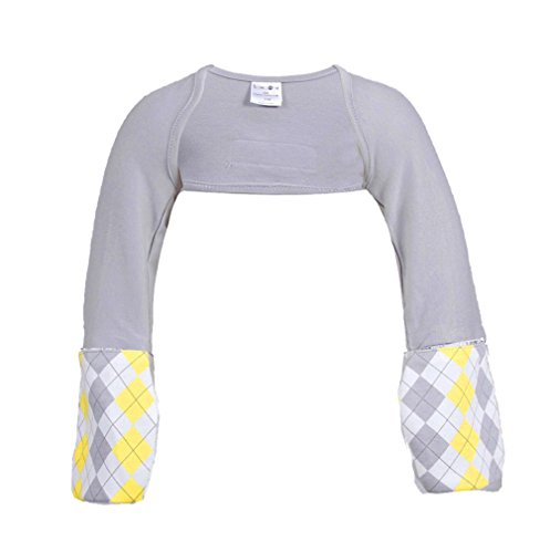 Scratch Me Not Flip Mitten Sleeves - Baby Boys' Girls' Stay On Scratch Mitts, Gray Argyle, 5T