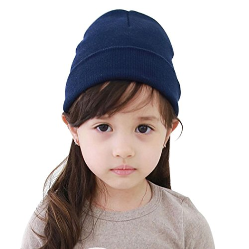 Big promotion ! Teresamoon Hat Baby Beanie Boy Girls Soft Hat Children Winter Warm Kids Knitted Cap,16cmX18cm,Suit For: 4M- 4Y Baby (BU)