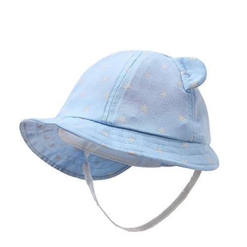 vivobiniya Newborn Boy Summer Hats Baby Sun Hats Little BearToddler Hat 0-12M (3-6m)