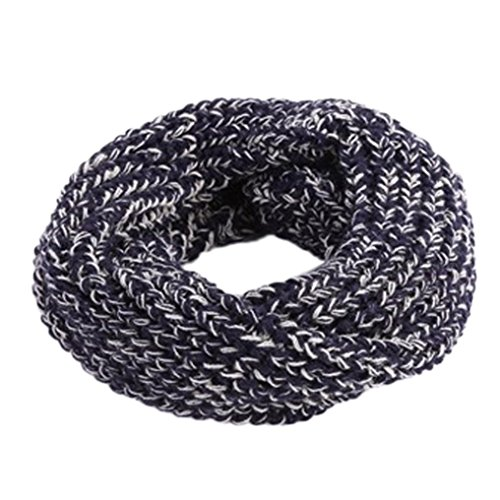 TAORE Knit Woolen Baby Scarf Neck Winter Warmer Neckerchief (Navy A)