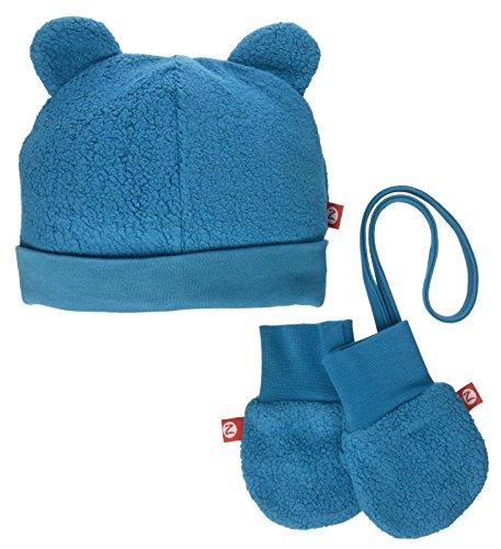 Zutano Cozie Fleece Hat & Mitten Set (Baby) - Pagoda - 24 Months