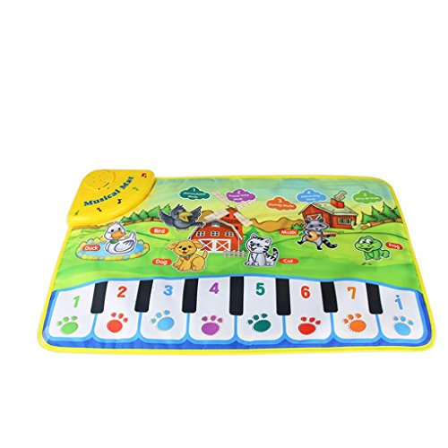 Musical Mat,Elevin(TM)New Boys Girls Touch Play Zoo Animal Musical Music Singing Gym Carpet Mat Best Kids Baby Christmas Gift
