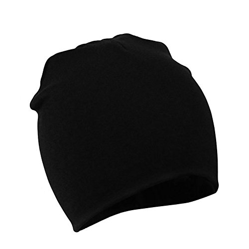 Zando Baby Toddler Infant Kids Cotton Soft Cute Lovely Knitted Beanies Hat Cap D Black Large (1-4 years)