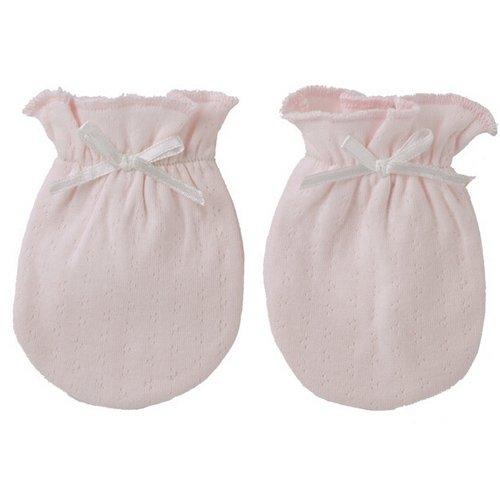 3 Pairs Baby Soft Cotton Newborn Infant Anti-scratch Handguard Mittens Glove (pink)