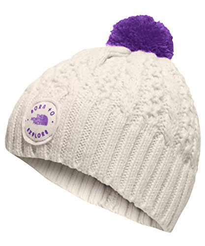 The North Face Baby Girls' Minna Beanie - vintage white/bellflower purple, xs