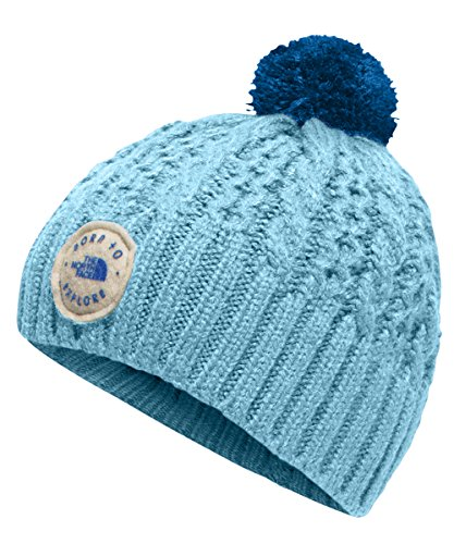 The North Face Baby Girls' Minna Beanie - sky blue/bright cobalt blue, xs