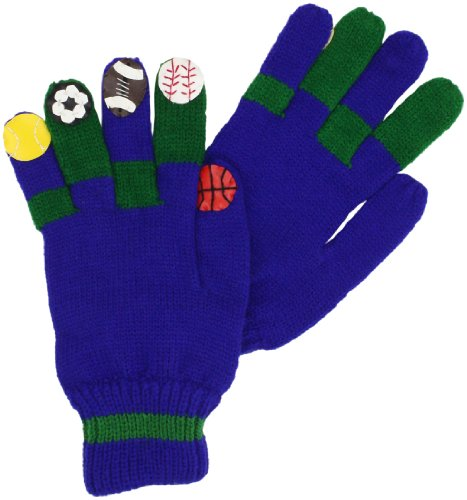 Kidorable Little Boys' Sports Gloves, Blue, Large