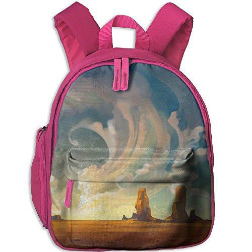 Kids Toddler Nature-landscape-fantasy Pre School Lunch Bag Pink
