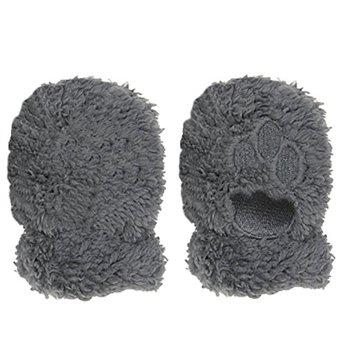 Magnetic Me Unisex Warm Fleece Infant Mittens with Magnet Clips Gray 18-24 Month