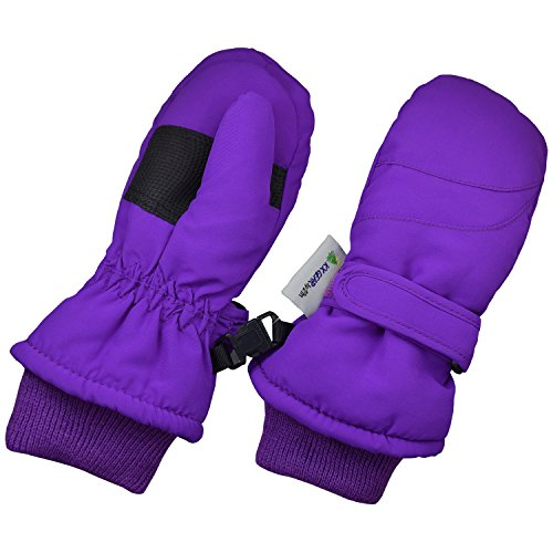 Children Toddlers and Baby Mittens Made With Thinsulate,and Fleece - Winter Waterproof Gloves - KX GEAR by Zelda Matilda,Purple,5-6 years
