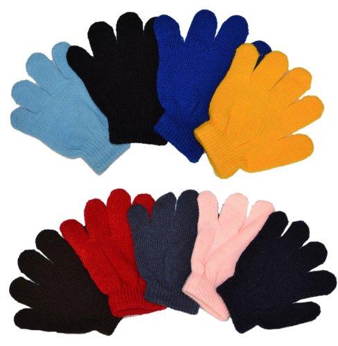 MJ Boutique Wholesale Lot Of 10 Dozen Of Infant Baby Gloves Random Colors
