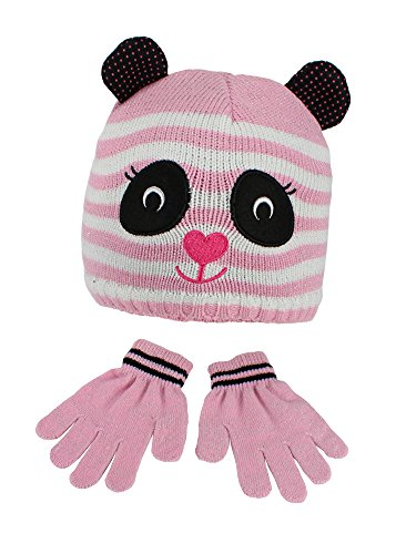 S.W.A.K Toddler Girls Hat And Gloves Sets- Pink