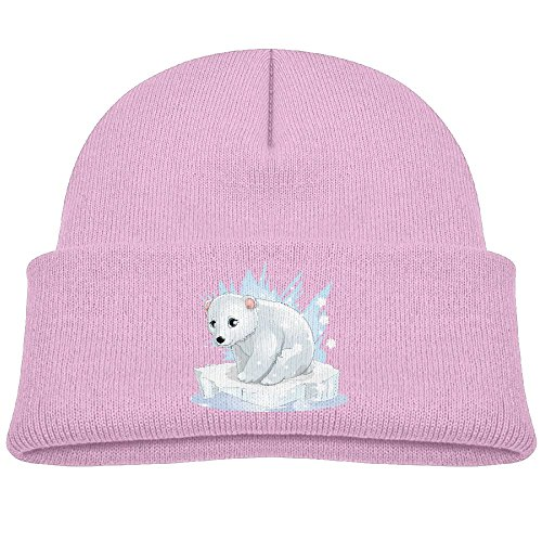 Marvin Toddler Cute Polar Bear Toddler Infant Baby Cotton Soft Cute Knit Kids Hat Beanies Cap Pink