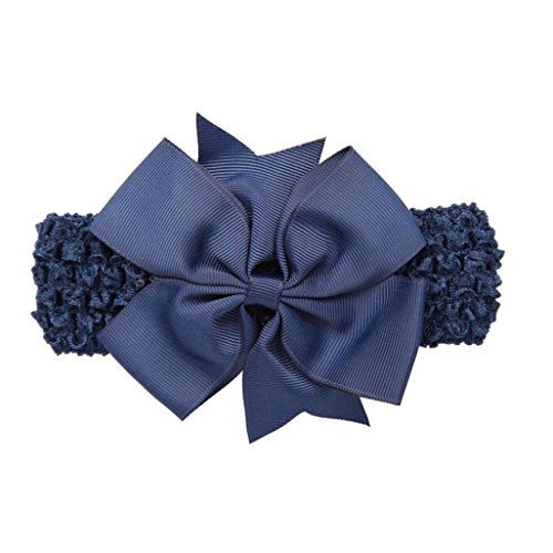Matoen (TM) Girls Headbands Bowknot Hair Accessories For Girls Infant Hair Band (Navy)