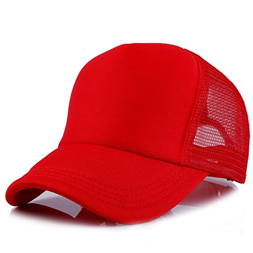Children Toddler Infant Hat Peaked Baseball Beret Kids Cap Hats By MEXUD (Red)