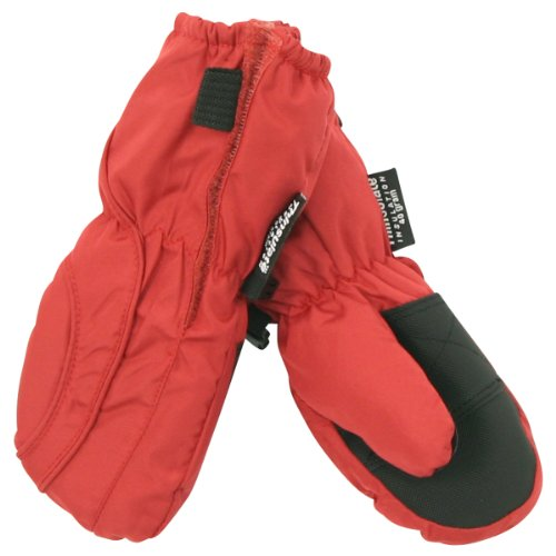 Toddler Boy's (2 - 4) Long Thinsulate Lined / Wateproof Ski Mittens - Red