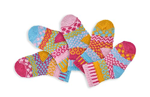 Solmate Socks, Mismatched Baby socks for girls or boys, Cuddle Bug Newborn