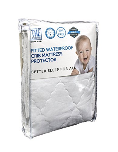 Waterproof Crib Mattress Cover | Organic Protector and Sheet Pad For Bedding | Hypoallergenic & Breathable Cotton, Elastic Fabric For A Snug Fit | Protects Baby,Toddler Against Dust Mites & Fluids