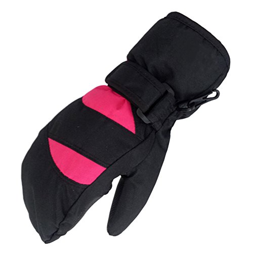 Super waterproof outdoor children's ski gloves thickened windproof and warm gloves-B 6cm(2inch)
