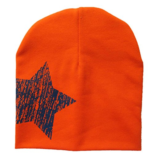 Mikey Store Winter Warm Child Toddler Hairball Cap Boy Girl Knit Beanie Hat Crochet (Orange)