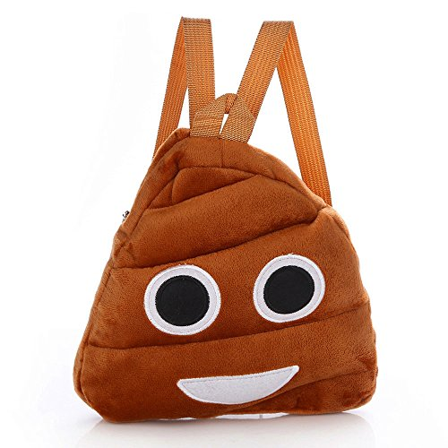 LTUI Cute Poo Emoji Emoticon Shoulder School Child Bag Backpack Satchel Rucksack Handbag for Kindergarten,Favors Goodie Gift Birthday (A)