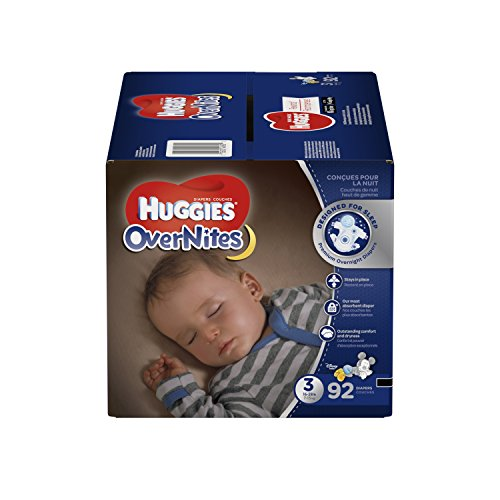 HUGGIES OverNites Diapers, Size 3, 92 ct., Overnight Diapers (Packaging May Vary)