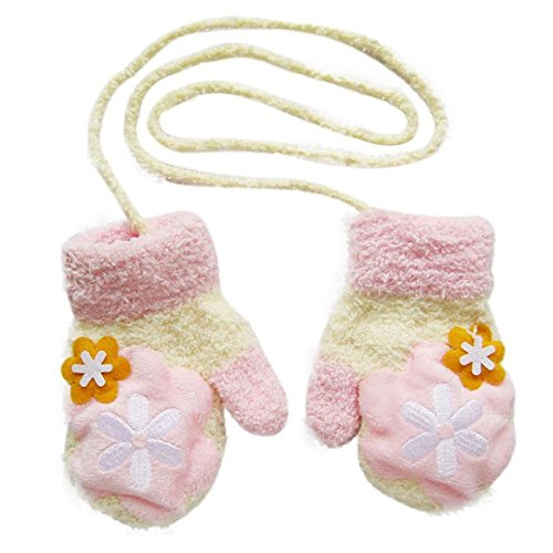 Children's Gloves,Amamary88 Hot Cute Coral Velvet Glove Infant Baby Girls Boys Of Winter Warm Gloves (Pink)