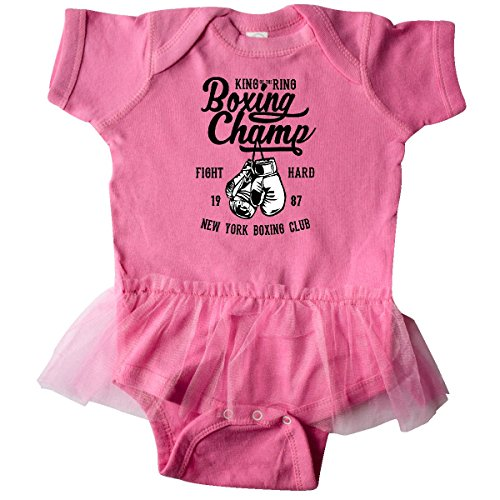 inktastic Boxing Champ Fight Hard Infant Tutu Bodysuit Newborn Raspberry