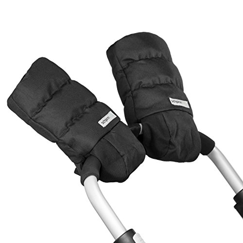 Unique Waterproof Hand Muff Gloves Attached on Baby Strollers - Extra Thick Winter Mitt with Heat Retention Lining - Anti-Freeze Quality – Unisex for Both Parents and Caregivers - One Size Fits All