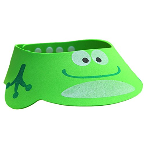 Adjustable Baby Child Kids Shampoo Bath Shower Cap Hat Wash (Green)