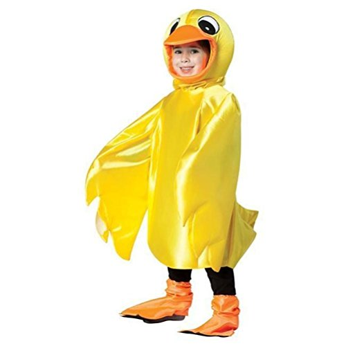Funny Rubber Ducky Toddler Child Costume Lightweight Yellow Duck Bird 3T-4T