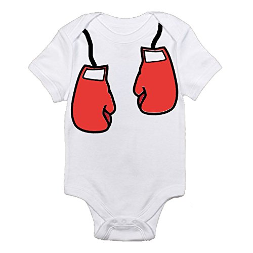 Future Boxer With Red Boxing Gloves on White Onesie Best Baby Gift Idea (0-3 Months)