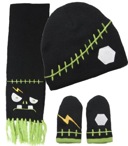 Sourpuss Clothing Scarf Set - Franken Black Toddler