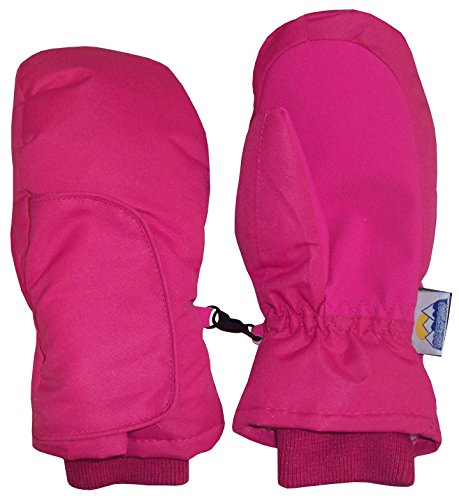 N'Ice Caps Kids Easy On Thinsulate Waterproof Velcro Wrap Mitten (2-3 Years, Fuchsia Solid)