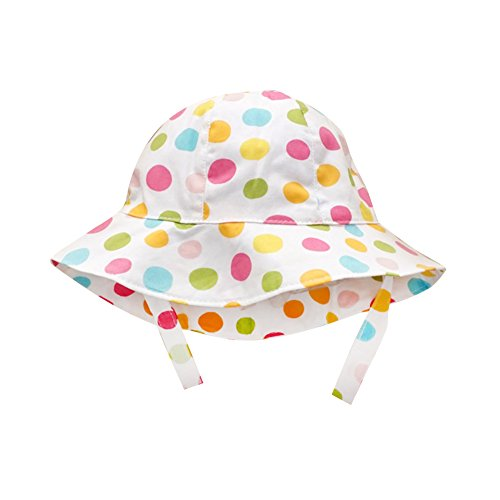 IMLECK Infant/Toddler Girls Color Polka Dot Cotton Girls Sun Hat Fishing Hat
