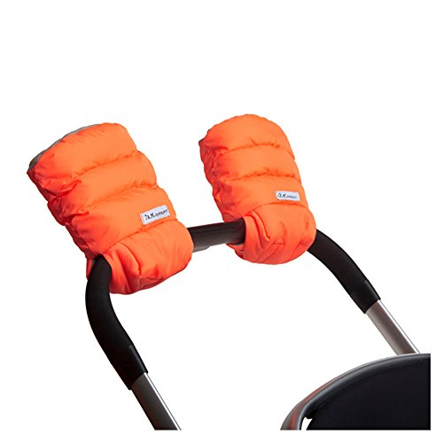 7AM Enfant WarMMuffs 212, Wind and Water-Resistant Stroller Gloves with Universal Fit, Best for Freezing Winter Conditions, (Neon Orange, One Size, Set of 2)