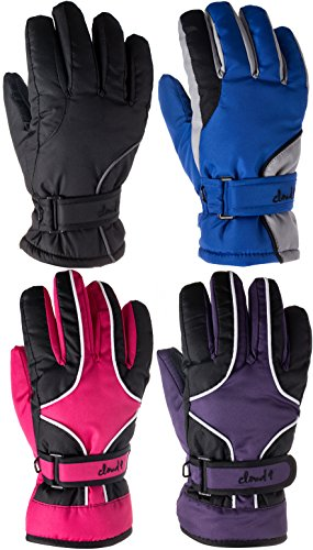 Youth Teens Ski Gloves Waterproof Breathable 3M Lined Ski Gloves(1 Pair Only)