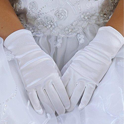 Angels Garment Baby Girls White Short Elegant Flower Girl Gloves 0-3M
